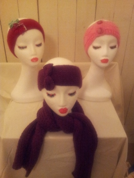 Cosiest hand knit scarves, some with matching ear warmers!